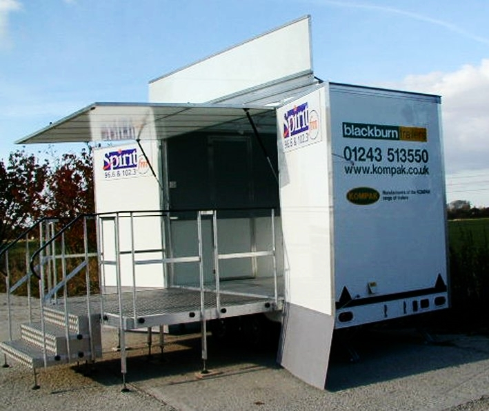 Exhibition trailers | promotional vehicles | Exhibition trailer | product promotion | Marketing trailer