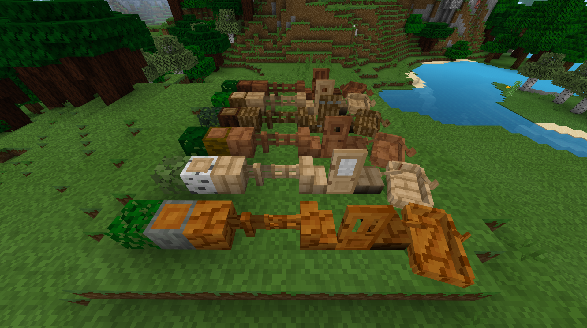 Wood textures redesigned (oak, jungle, birch, acacia, spruce)