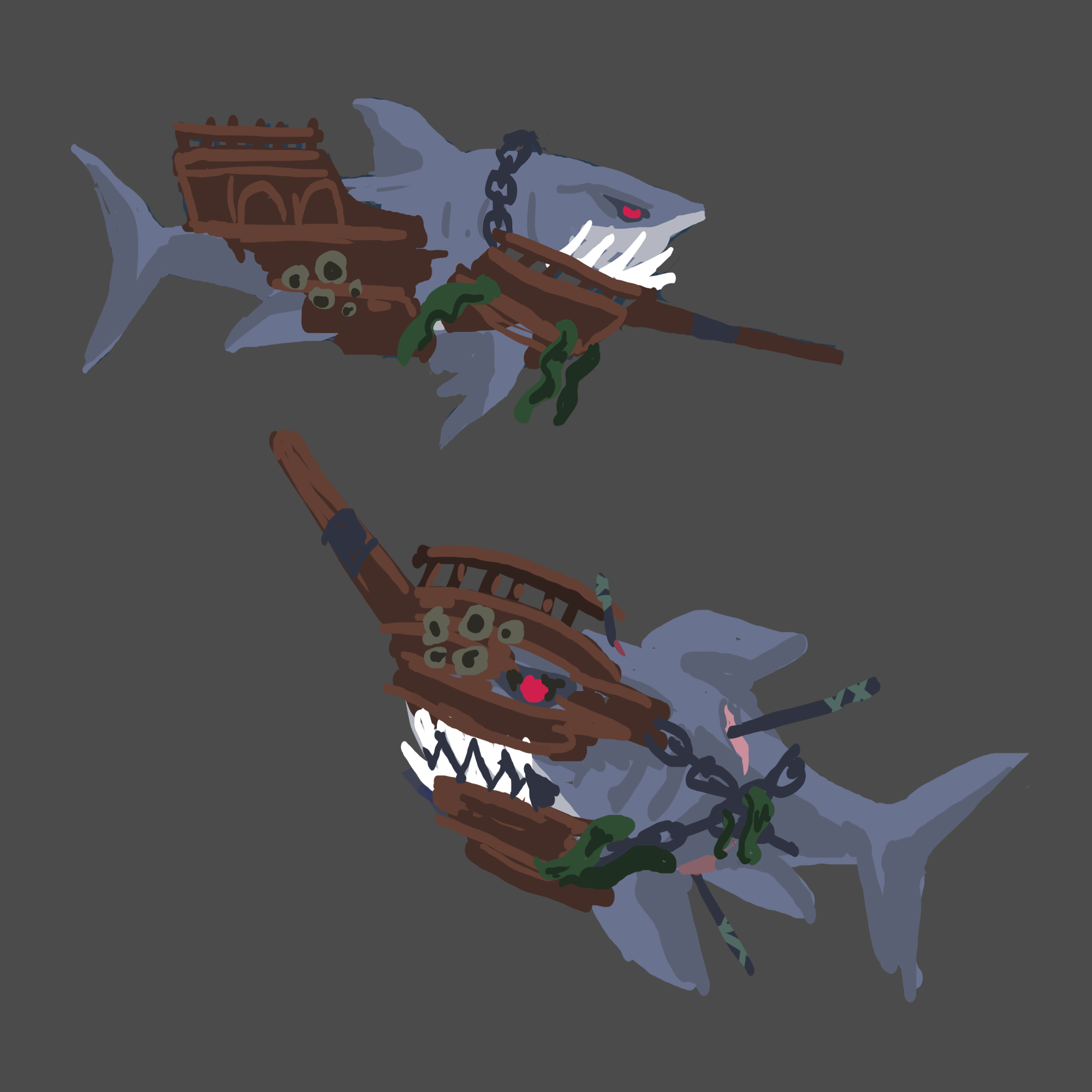 'Monsters of the Deep' shark concept designs