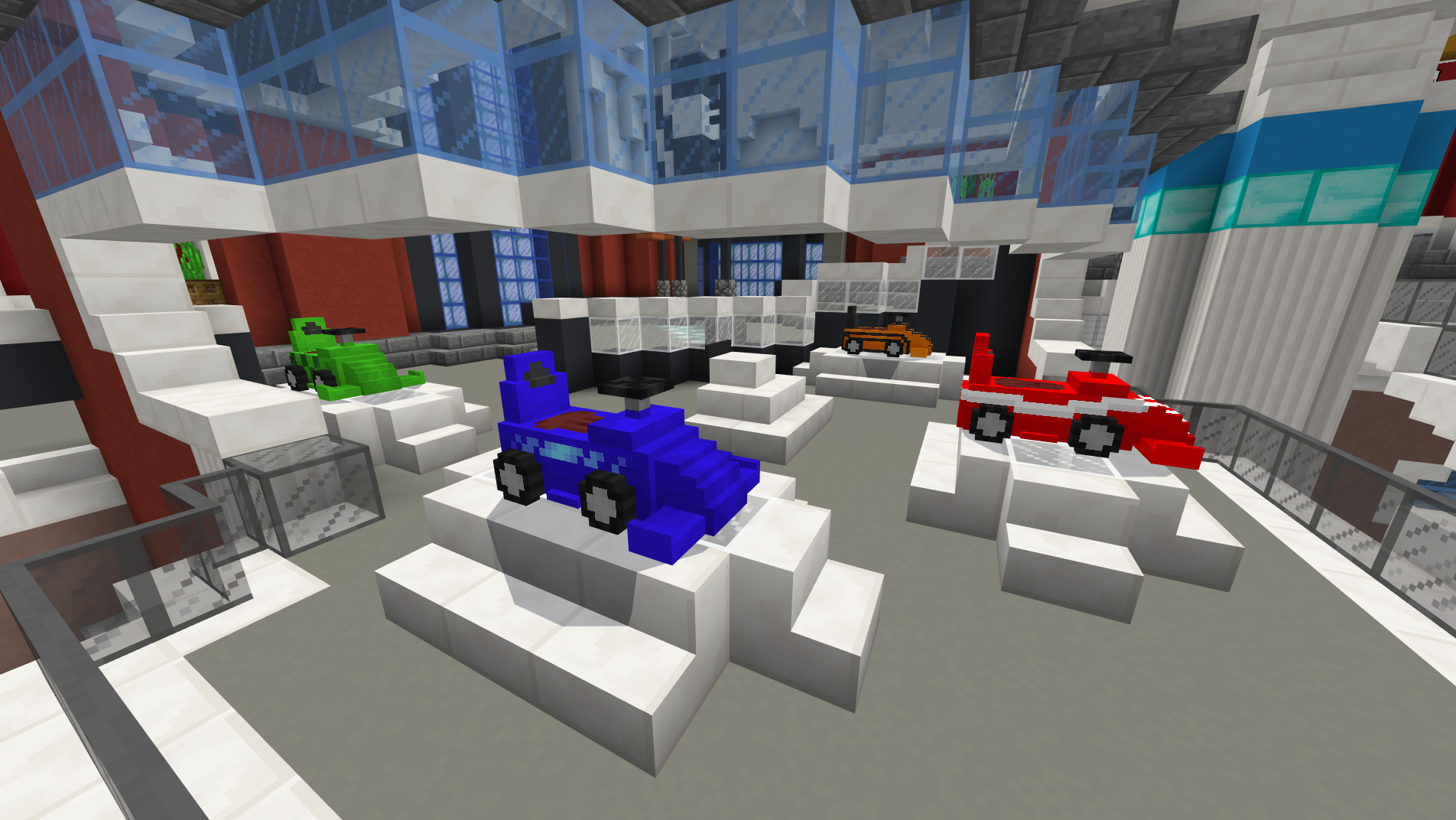 Discover hidden secrets around the Grid Runners hub, including cars and a racecourse!