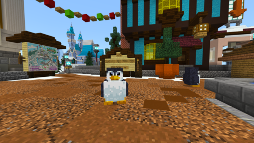 The penguin as it appears in game