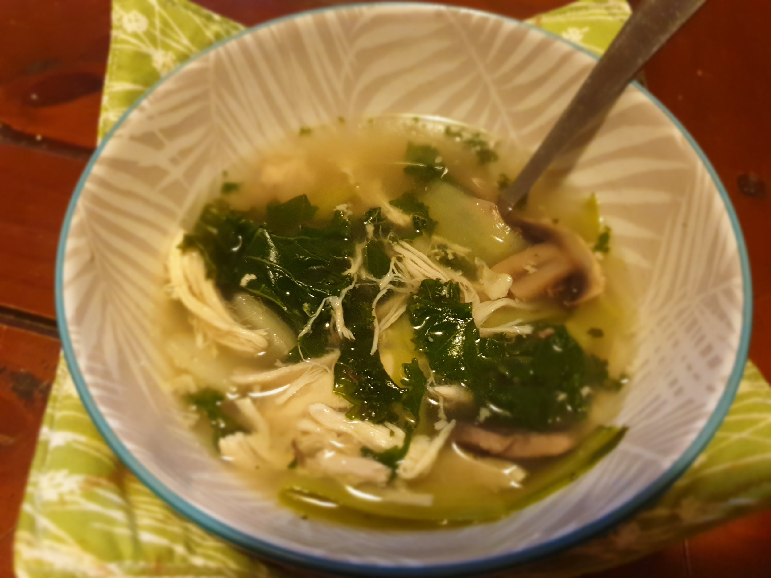 - Yummy home made chicken soup