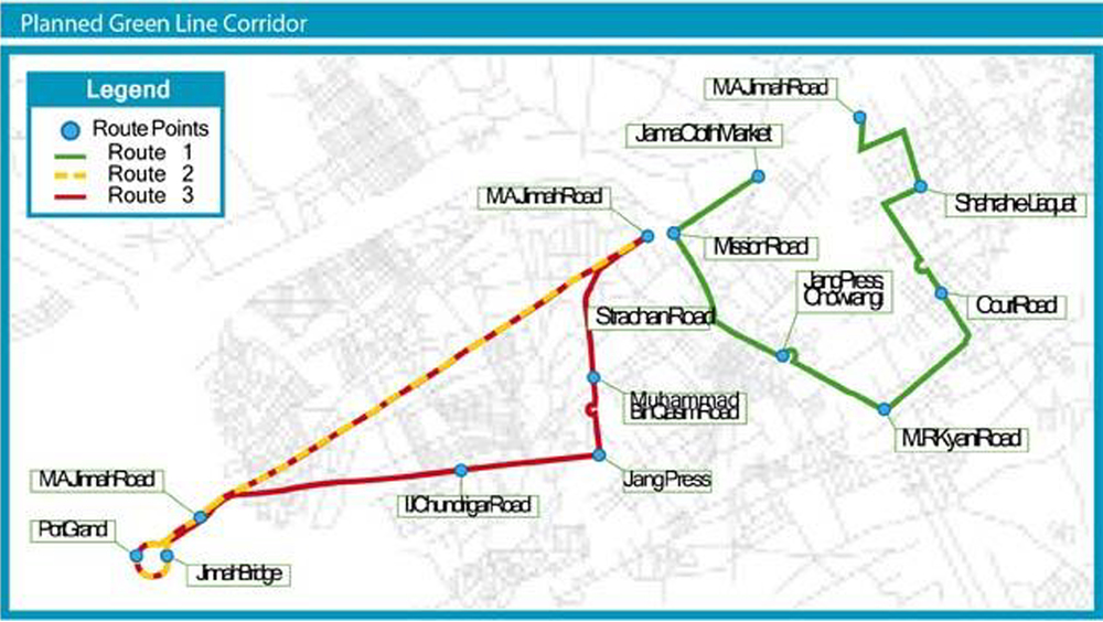 Courtesy: Green-Line Corridor Plan, Official Website of Green-Line