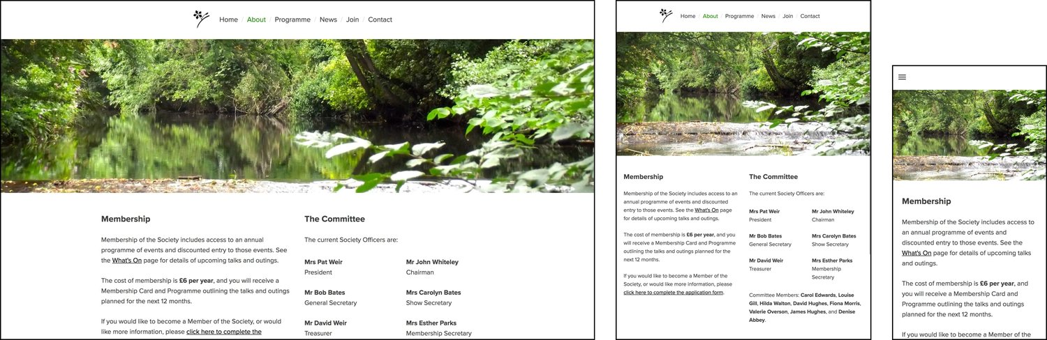 The new website is fully responsive: desktop, tablet and smartphone.