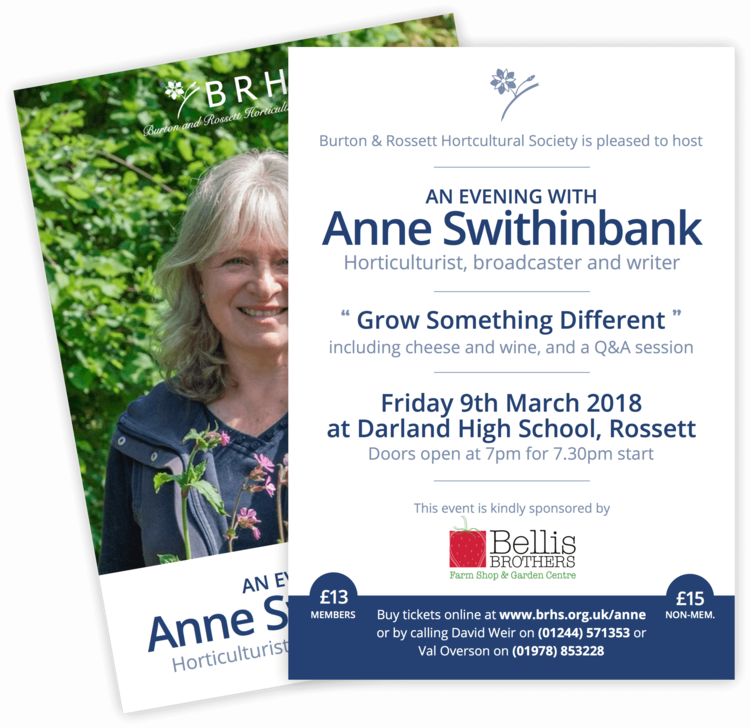 Leaflet for 2018 Special Event (featuring Anne Swithinbank)