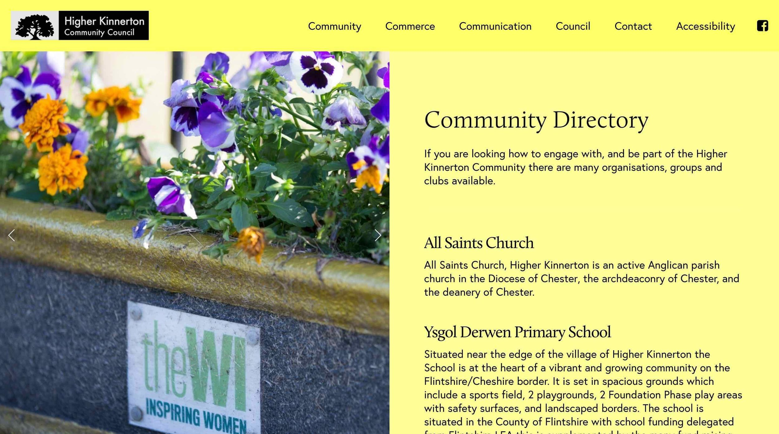 Higher Kinnerton Community Council: Accessibility Features