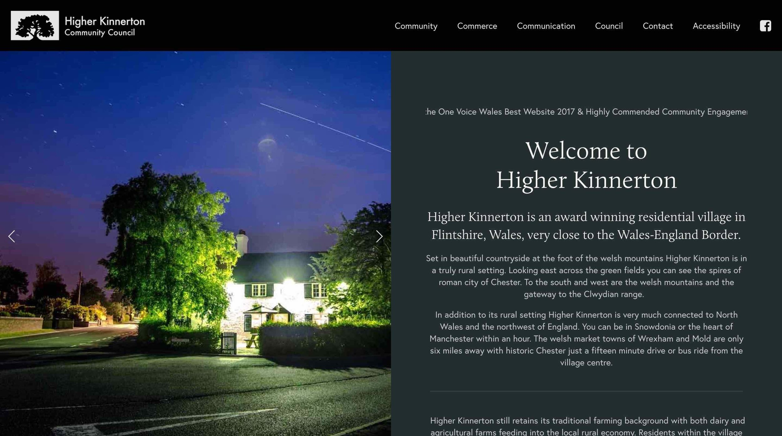 Higher Kinnerton Community Council: Home Page