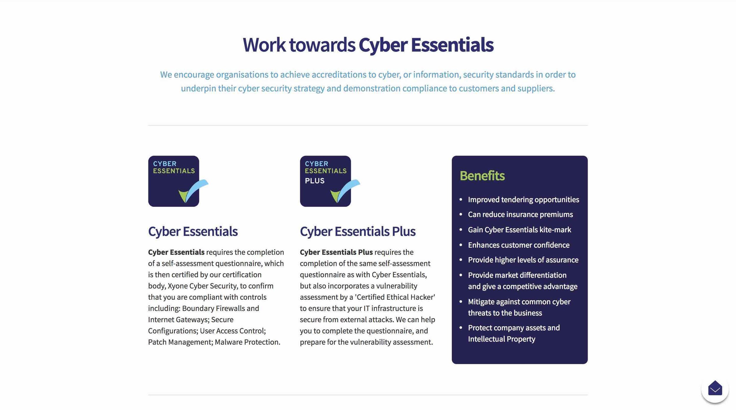 Solvings: Cyber Essentials Page