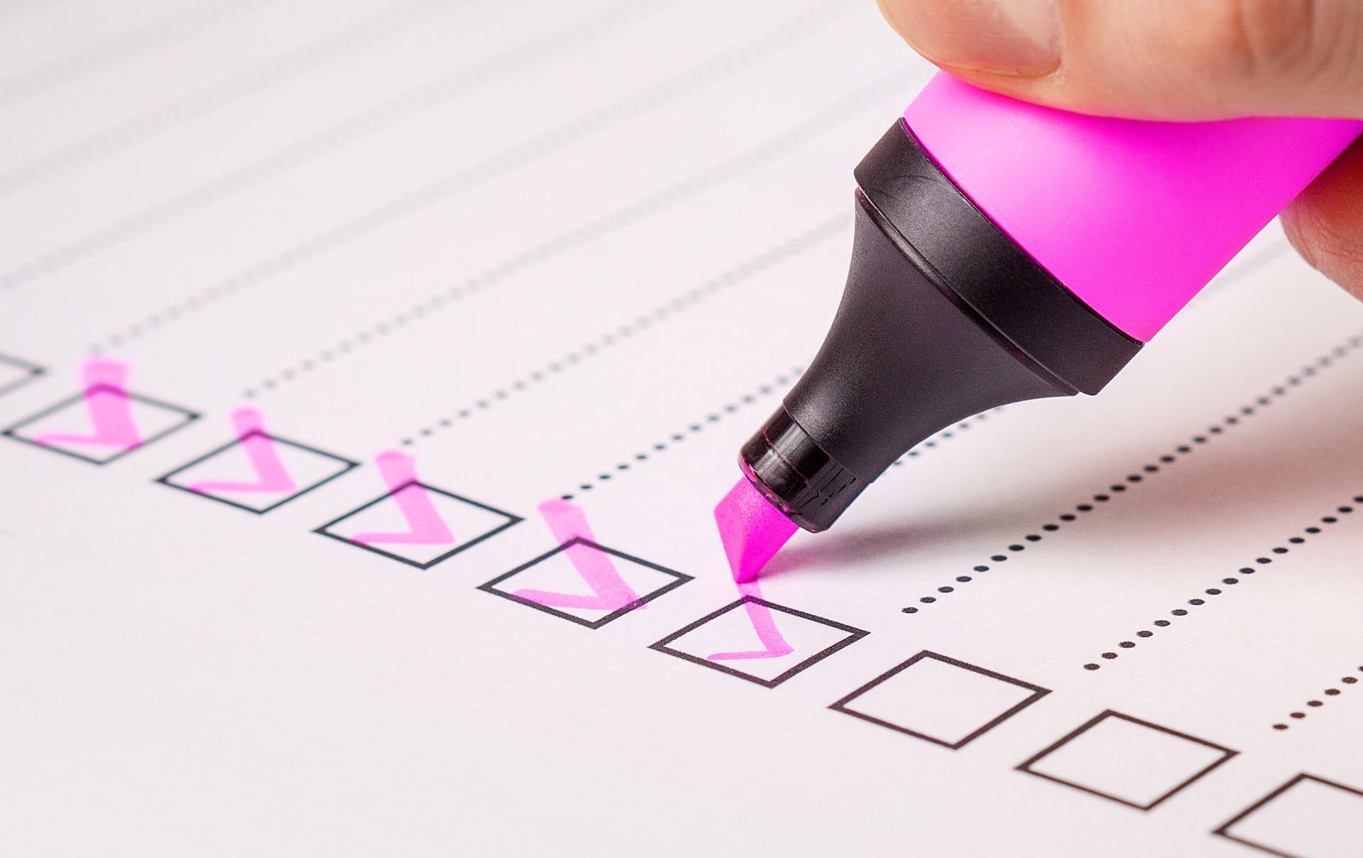 doing job checklist