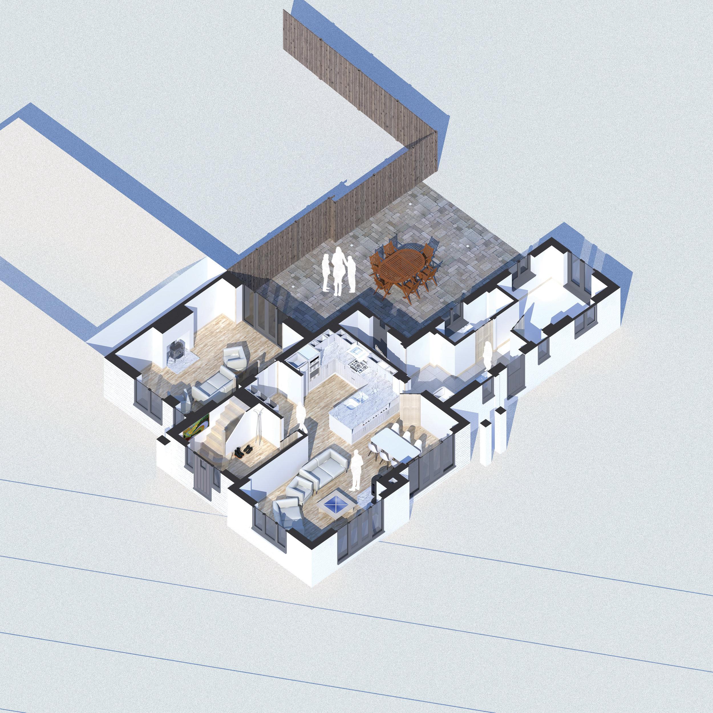 Ground Floor Axonometric