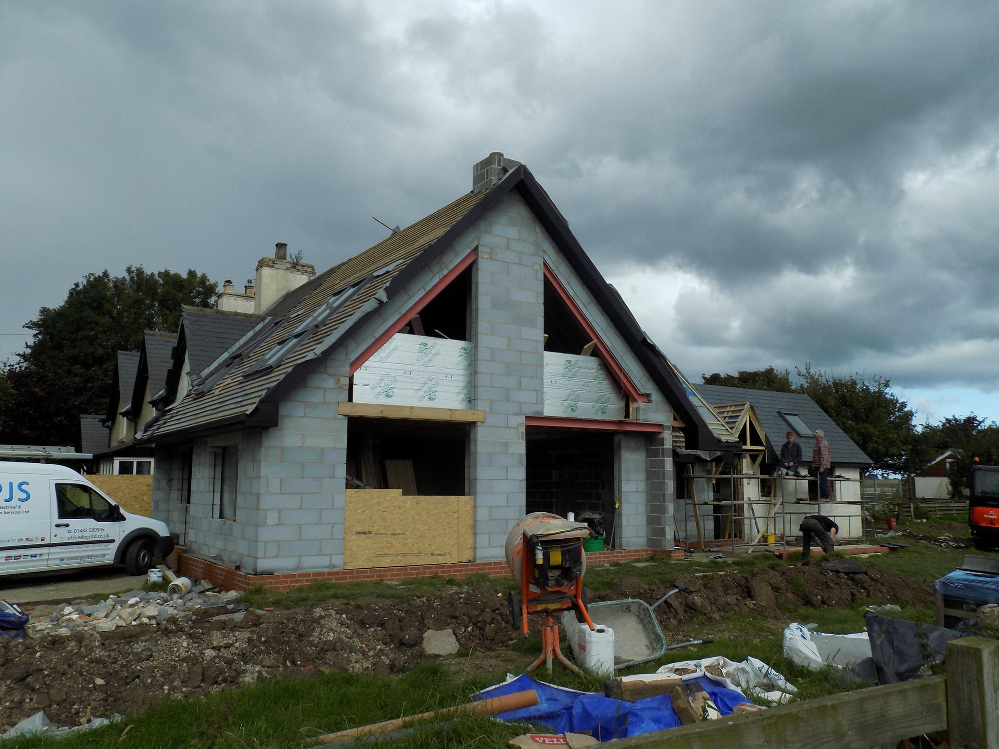 Catfoss House Construction - SAMUEL KENDALL ASSOCIATES