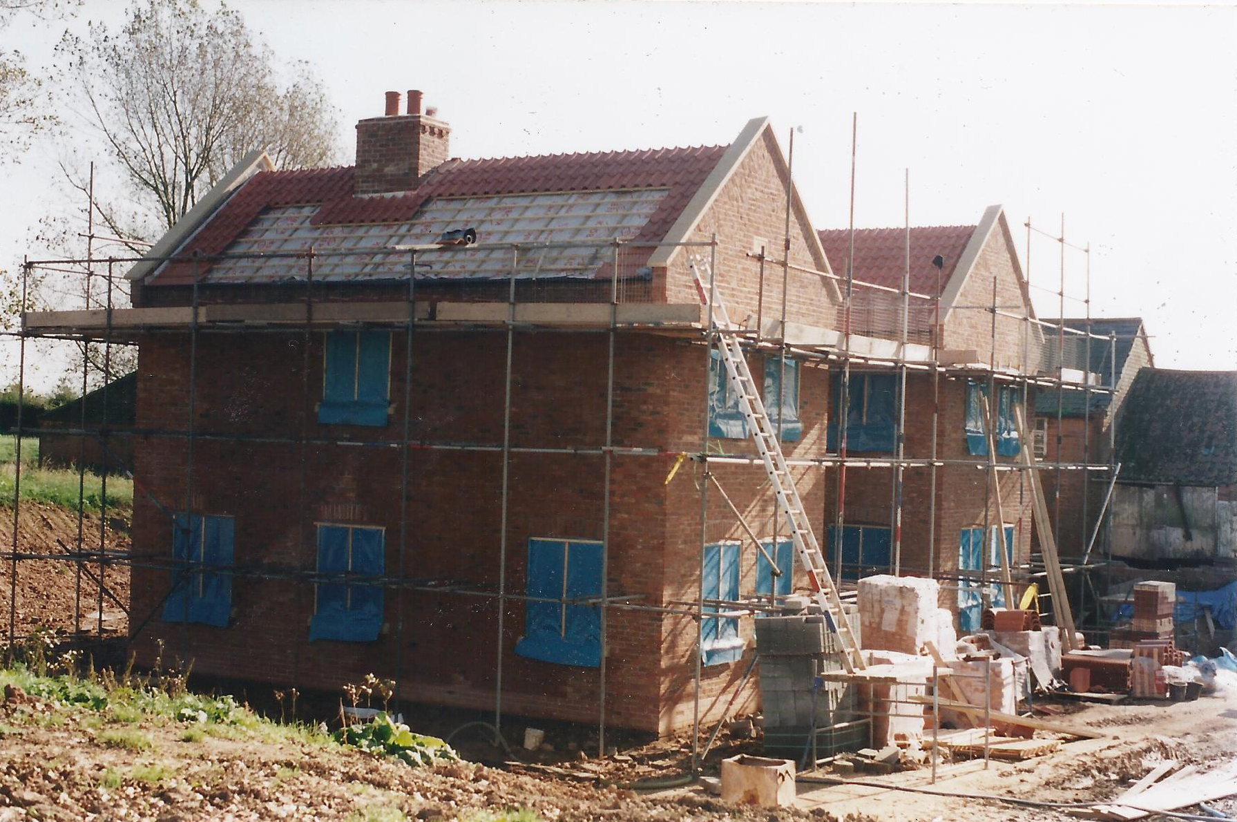 Construction Image 1 - North End Farm - East Yorkshire Architects - Samuel Kendall Associates