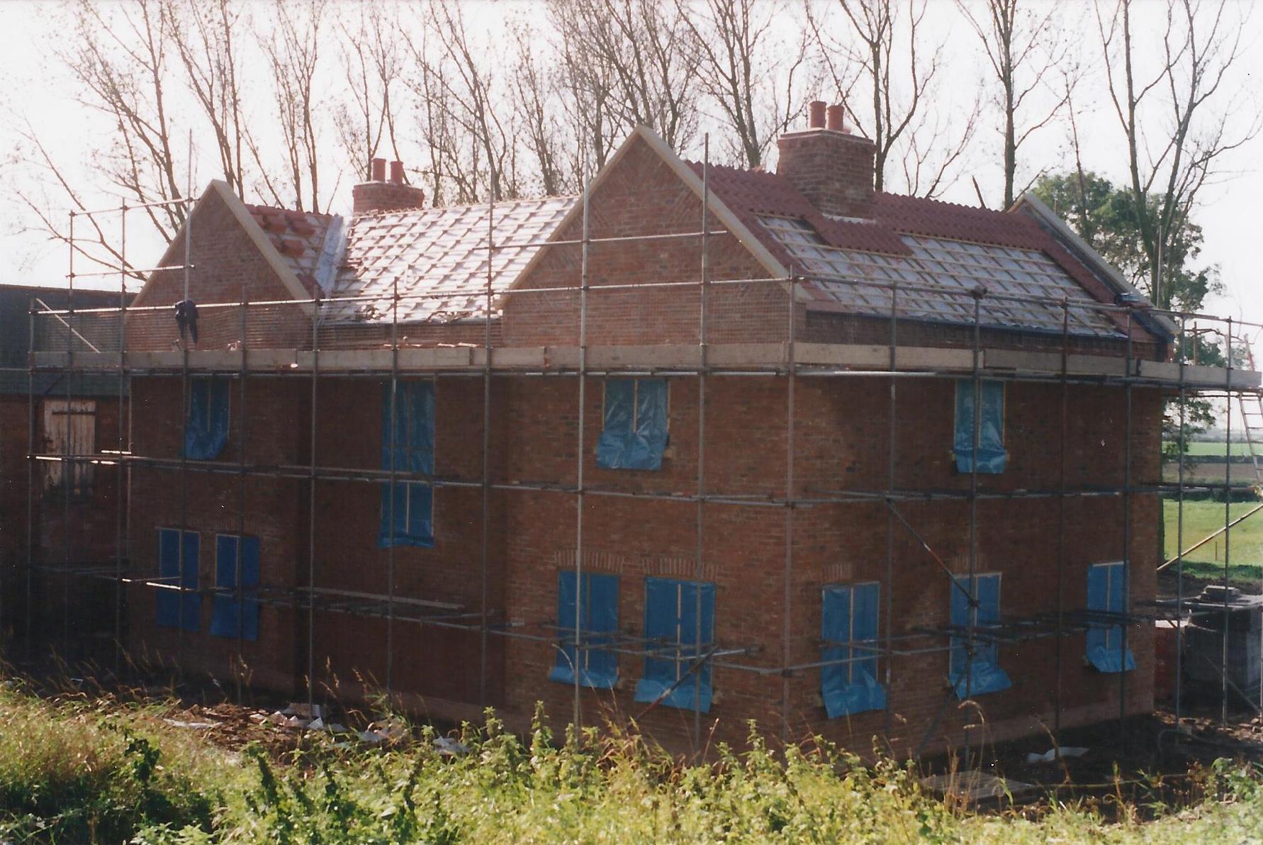 Construction Image 2 - North End Farm - East Yorkshire Architects - Samuel Kendall Associates