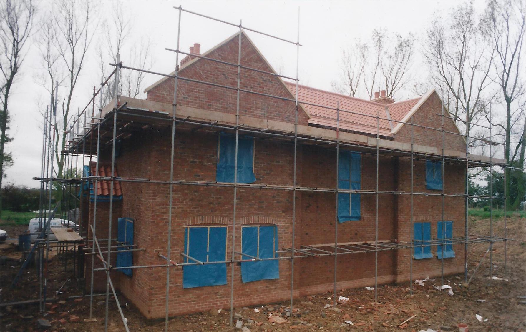 Construction Image 4 - North End Farm - East Yorkshire Architects - Samuel Kendall Associates
