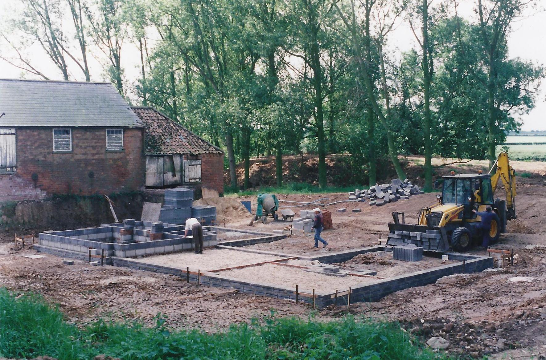 Construction Image 3 - North End Farm - East Yorkshire Architects - Samuel Kendall Associates