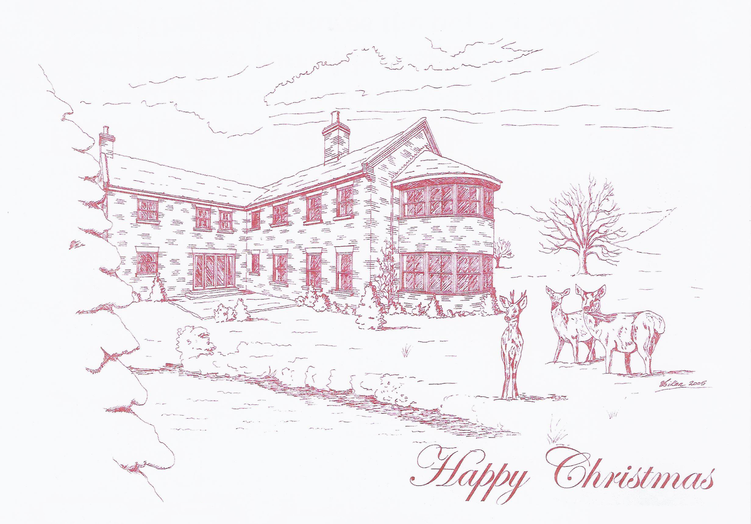 Christmas Card - Wayside House - Samuel Kendall Associates - East Yorkshire Architects