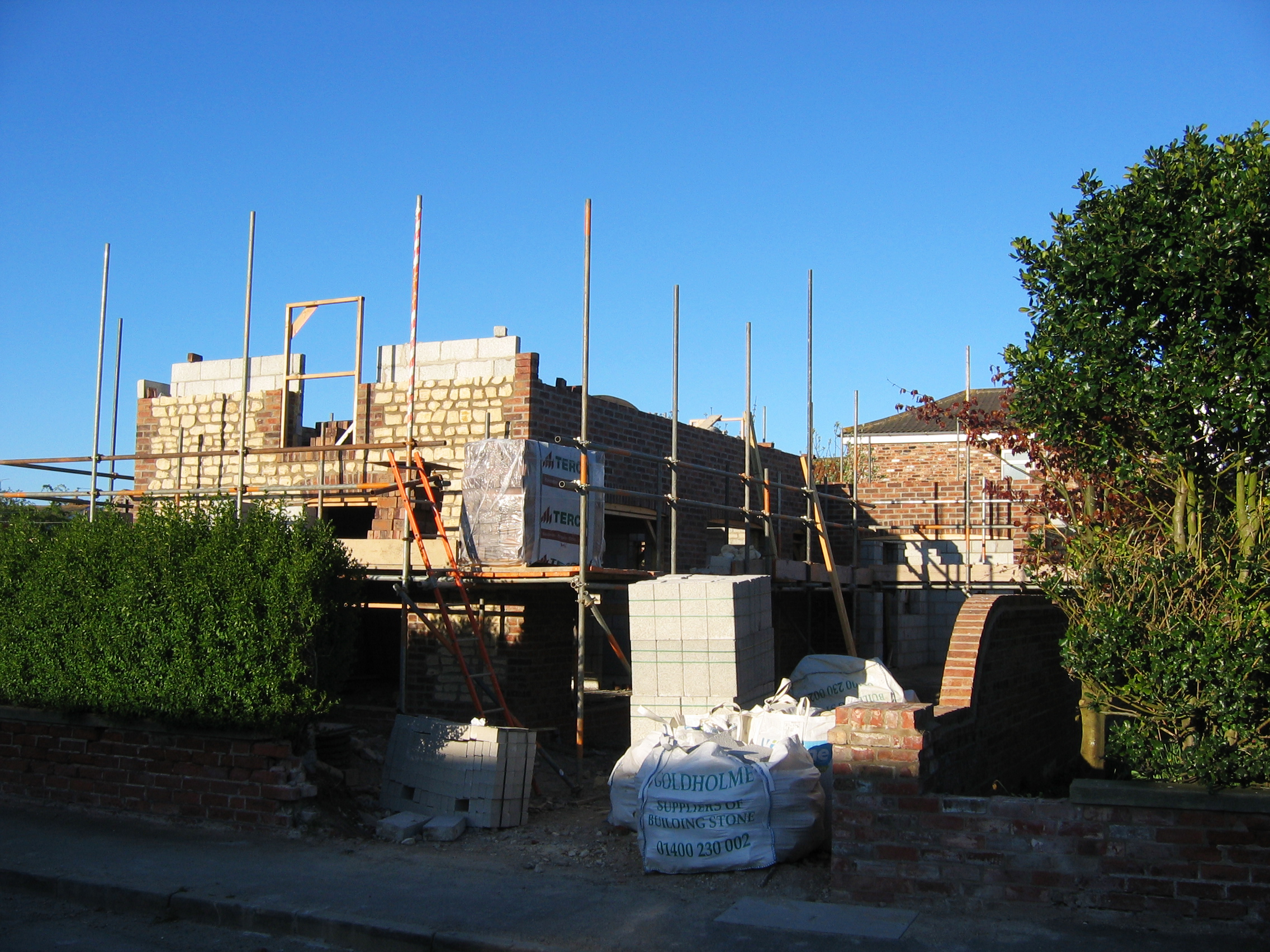 Flamborough Cottage Construction 1 - Bridlington Architects - Samuel Kendall Associates.JPG