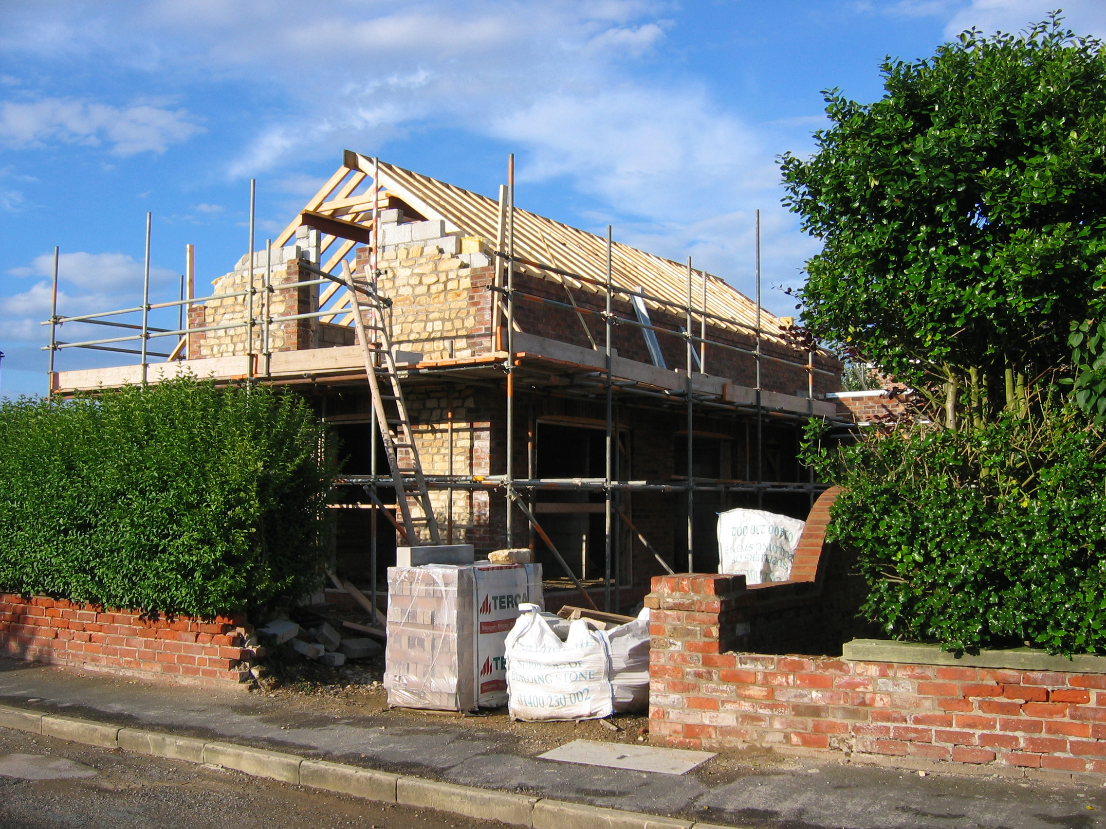 Flamborough Cottage Construction 9 - Bridlington Architects - Samuel Kendall Associates.JPG
