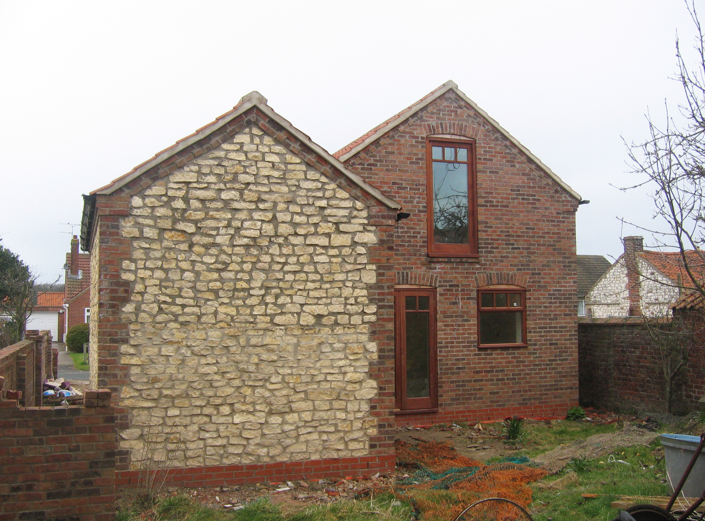 Flamborough Cottage Construction 11 - Bridlington Architects - Samuel Kendall Associates.JPG