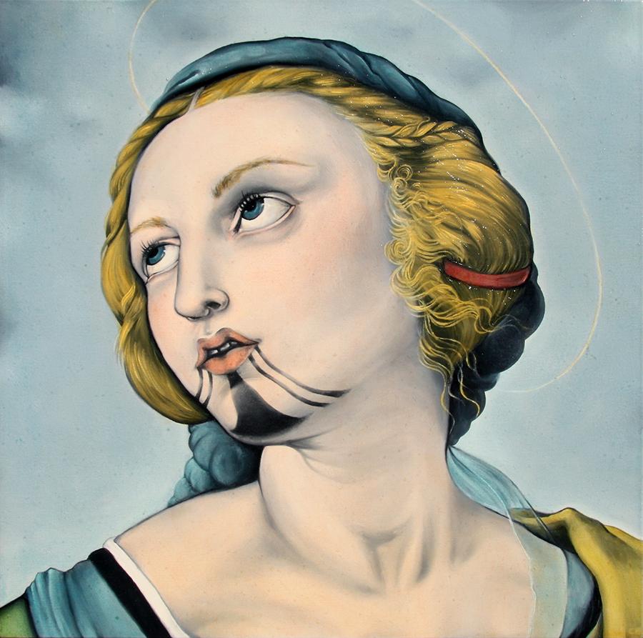 Sainte Catherine d'Alexandrie, Raphaël, tatouage Mohave traditionnel