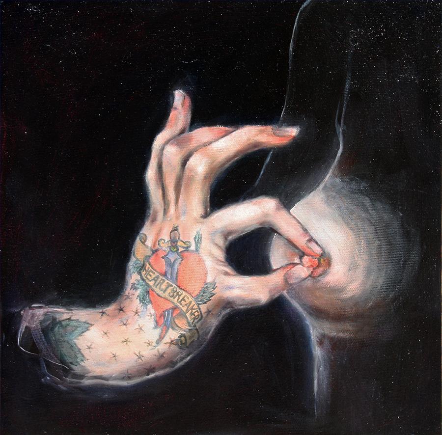 Le cœur blessé, les yeux en larmes, Août 1599. École de fontainebleau