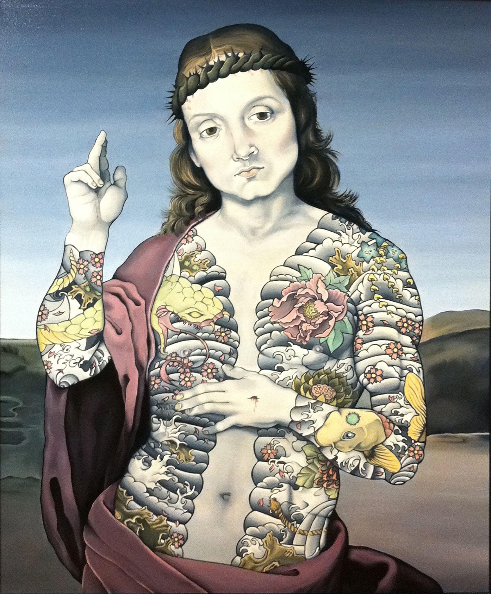 Le Christ bénissant, Raphaël, tatouages traditionnels japonais