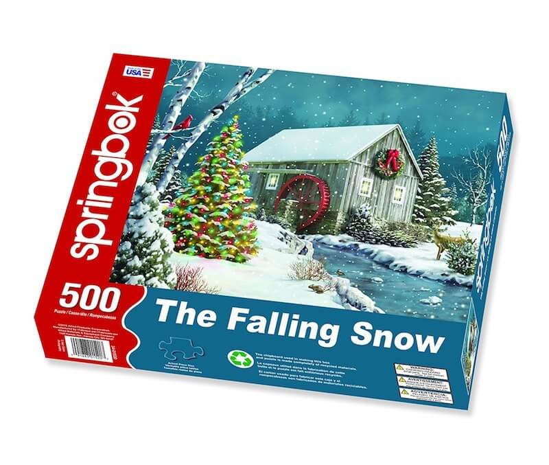 """""""The Falling Snow"""" 500 Piece Jigsaw Puzzle"""