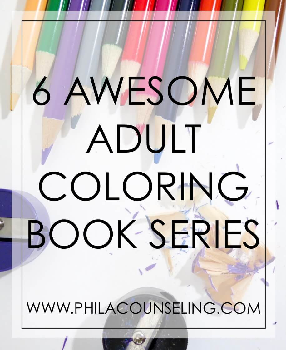 6 AWESOME ADULT COLORING BOOK SERIES