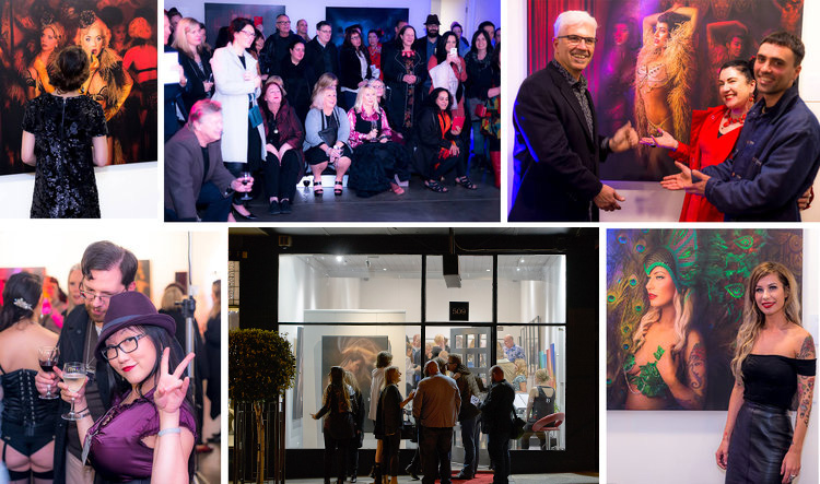 Opening night at the Jackman Gallery, St.Kilda & Studio B Gallery, Prahran