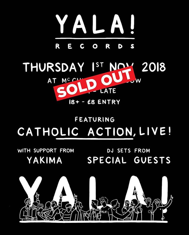 Tomorrow's show with @yalarecords and @yakimamusic is now sold out.  See you there.