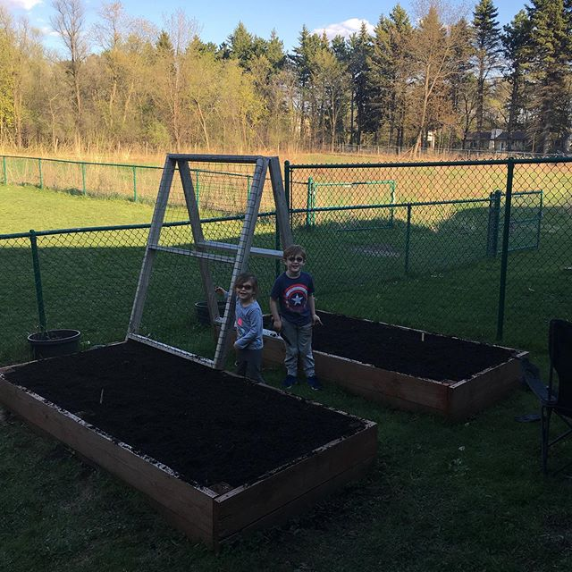 A little manure, compost, and fresh black dirt all mixed together into some Black Gold ready to grow some produce for the benefit of our local food shelves @whitebearfoodshelf @whitebearmontessori #forthecommongood