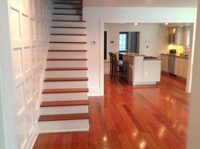 """Considering installing new wood floors? Great idea! A majority of real estate agents surveyed by the National Wood Flooring Association said houses with hardwood flooring are easier to sell, sell for more money, and sell faster primarily because wood is  easy to clean and maintain according to Time Magazine's article """"The Best Flooring for Your Money""""."""