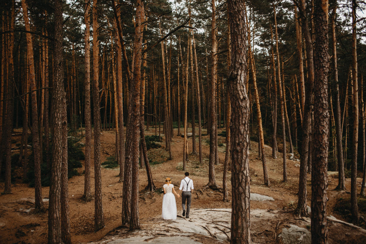 forest wedding epic photo