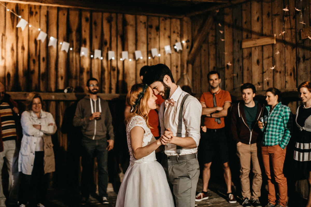 first dance in a barn