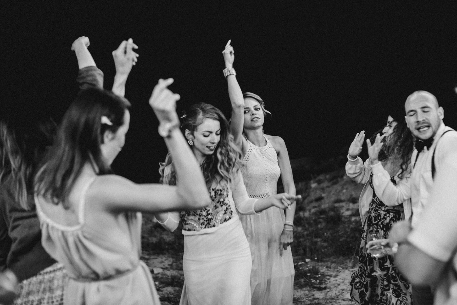 bride and her dancing moves