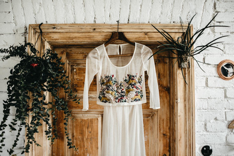 handmade dress detail