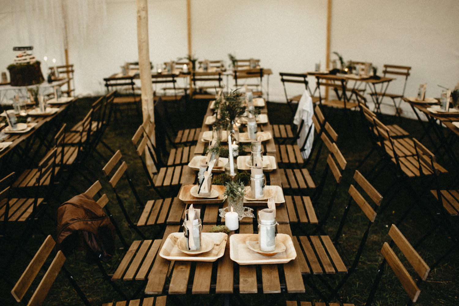 rustic details for the dinner