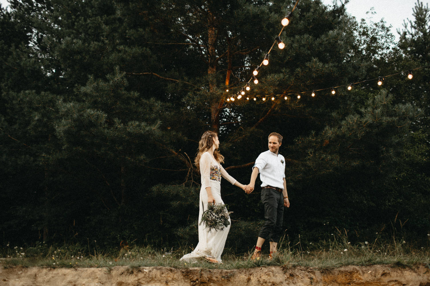 hipster wedding photography - bride and groom