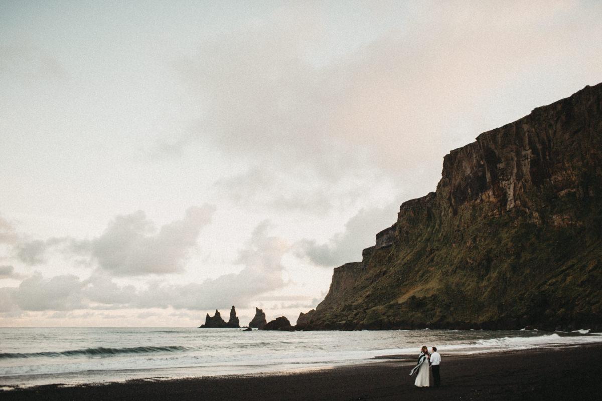 wedding ceremony in VIK, Iceland.