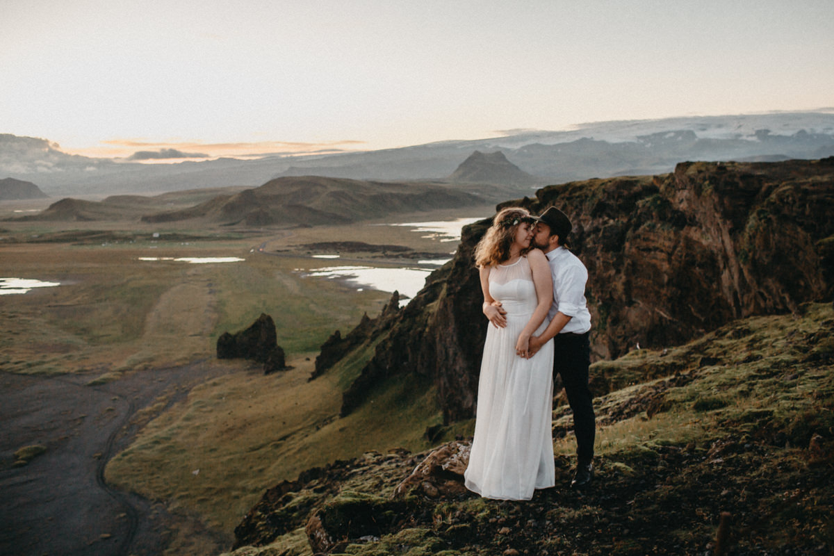 couple poses for a epic shot