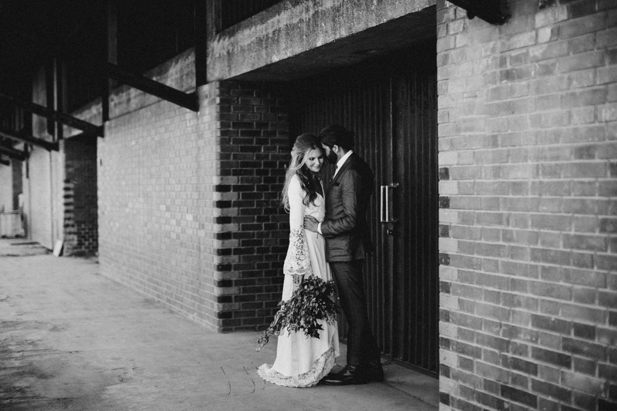 industrial wedding portraits