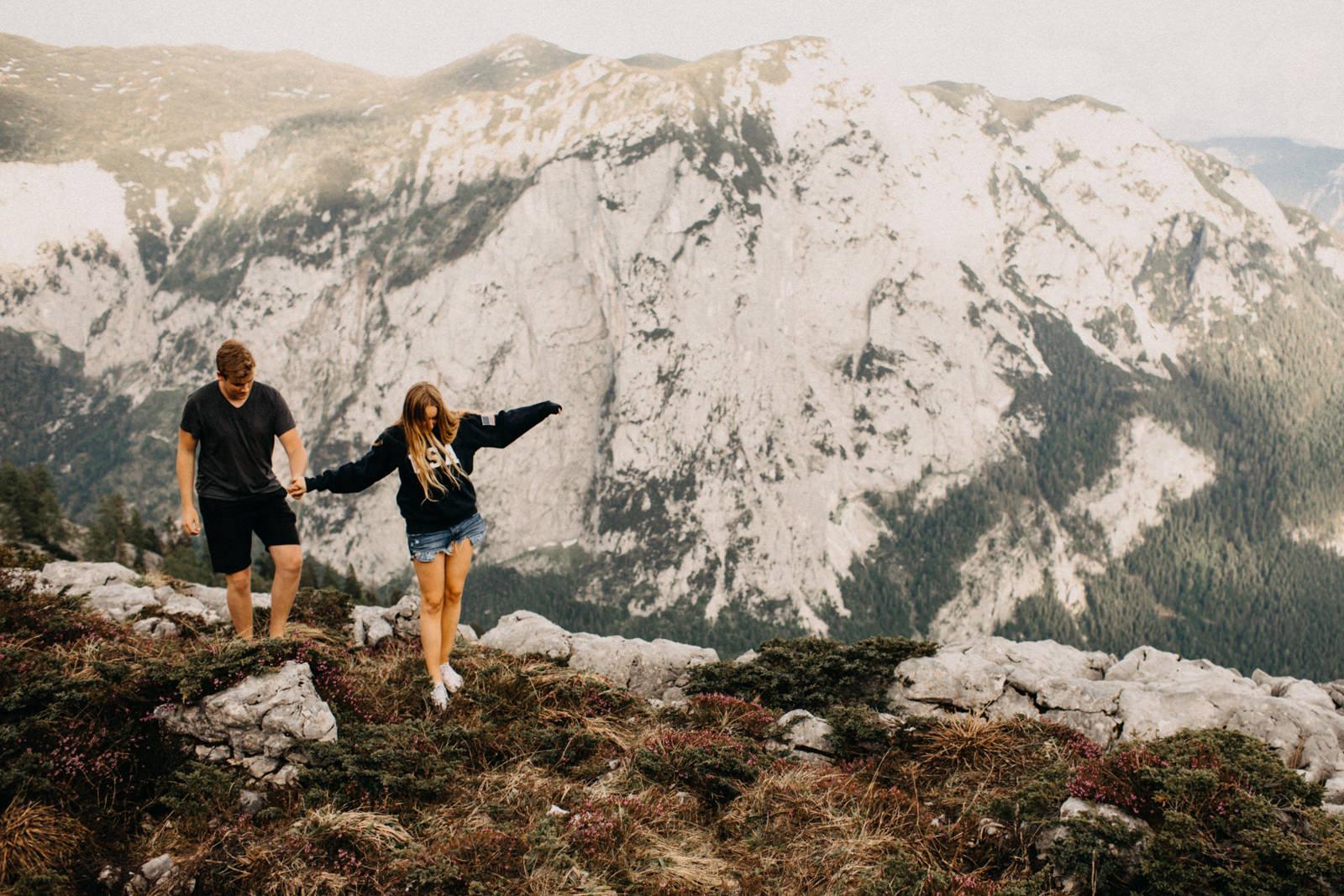 hiking around mountains