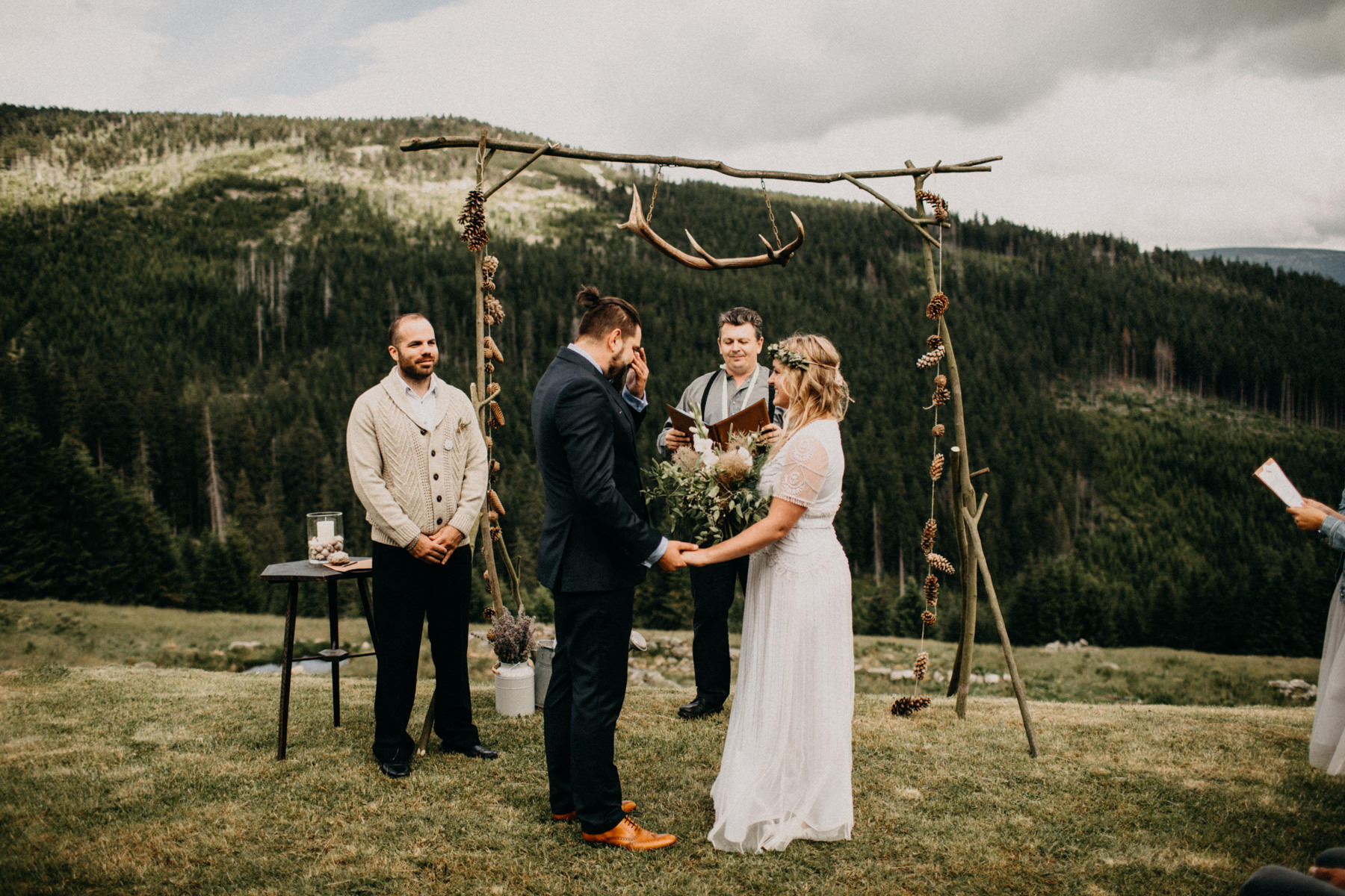 ceremony in mountains