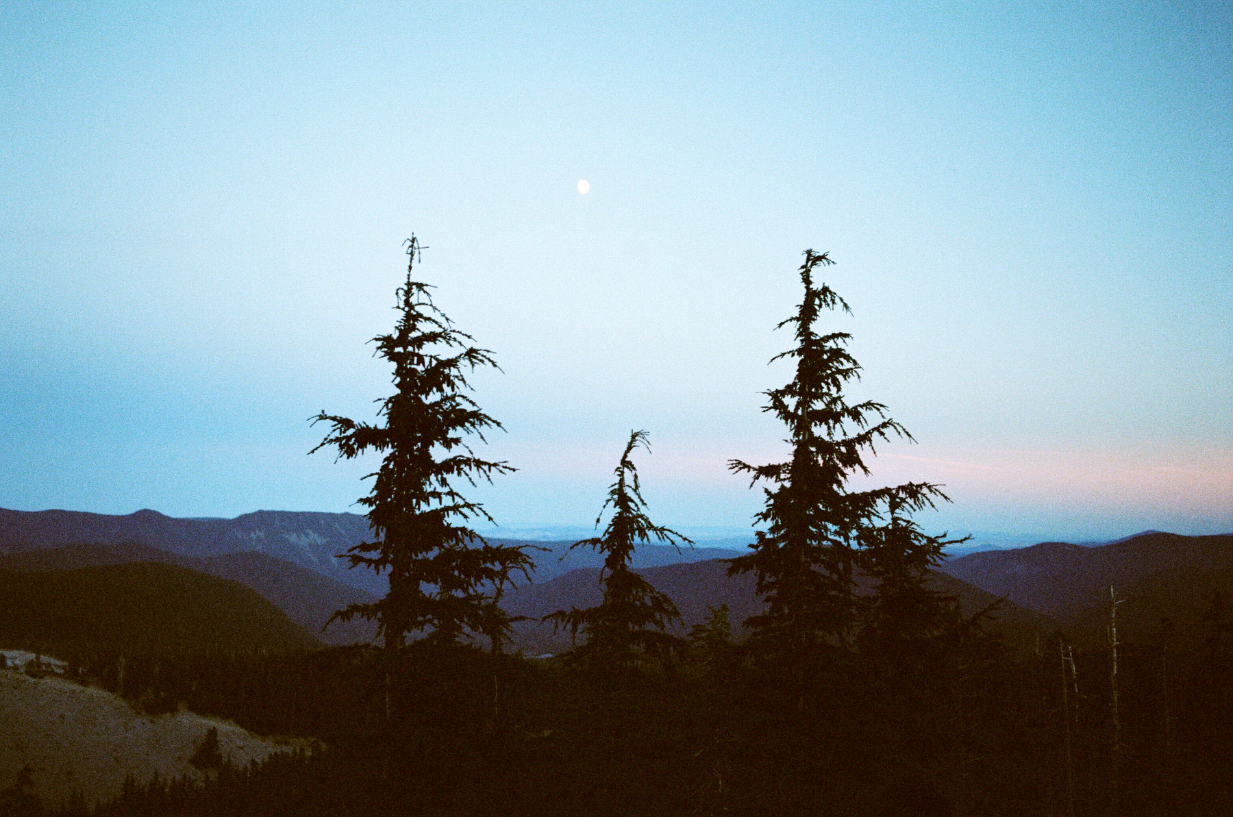 blue hour in the mountains