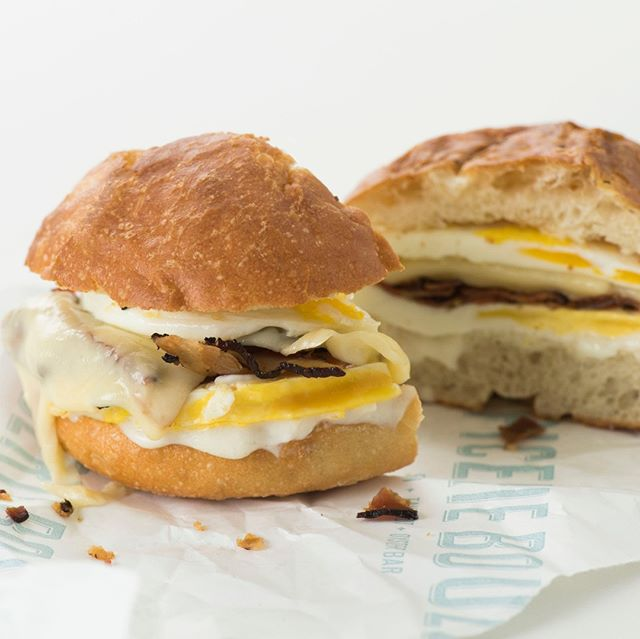 The Saturday morning sandwich of your dreams ✨ #bacon #egg & #cheese