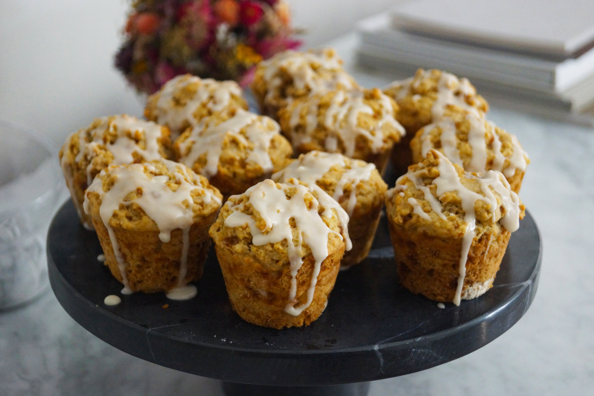 These vegan lemon cake muffins are made with avocado oil and cashew yogurt.