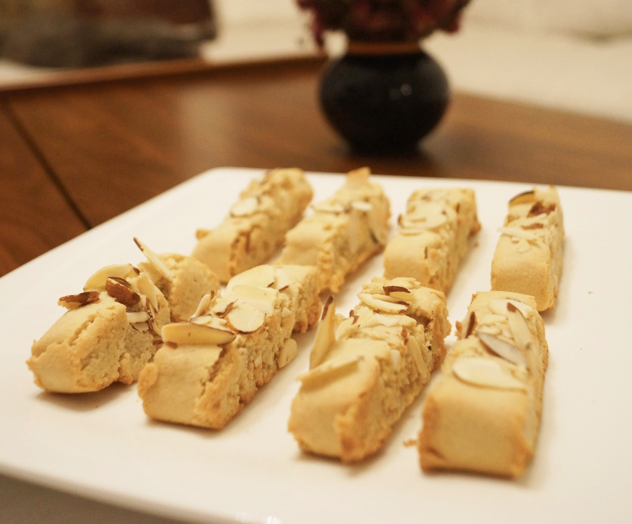 These Vegan almond biscotti are made with almond flour and maple syrup.