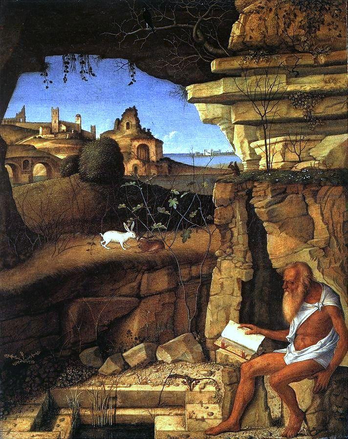 "Giovanni Bellini, ""St. Jerome in the Desert"" (1505, Wikimedia Commons)"