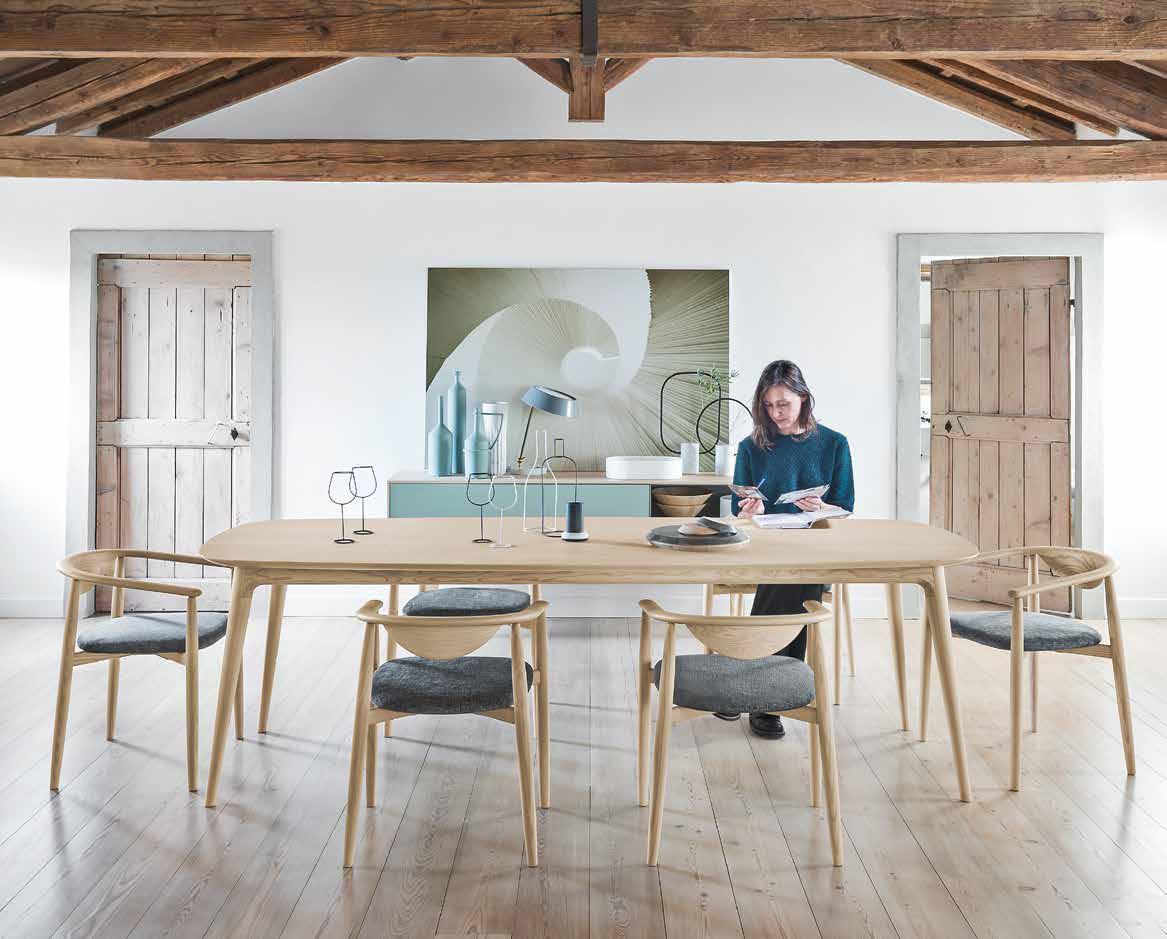 tavolo sedie legno massello novamobili