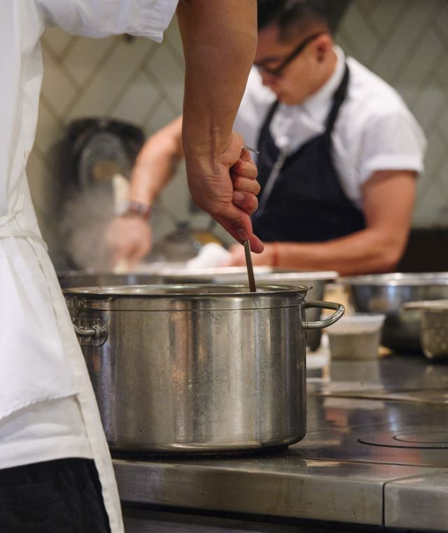 A peek behind-the-scenes at pre-service prep. For the latest #BIRDDOG offerings, view our menu at http://birddogpa.com/menu // #PaloAltoRestaurant #PaloAltoFood #KitchenLife #PaloAlto #SiliconValley #BayAreaFood